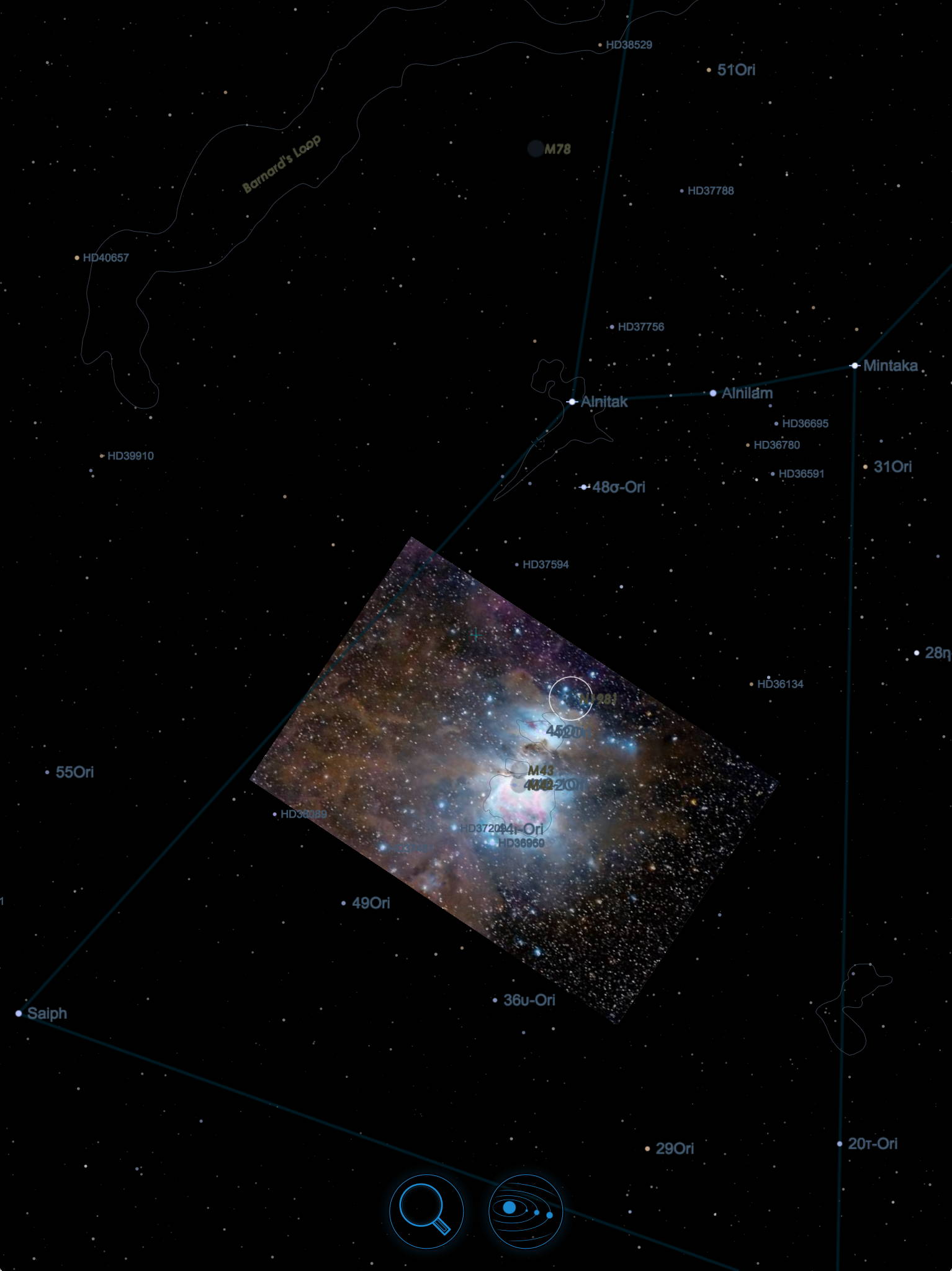 Starmap The Astronomy App - Astronomical map of galaxies in the us