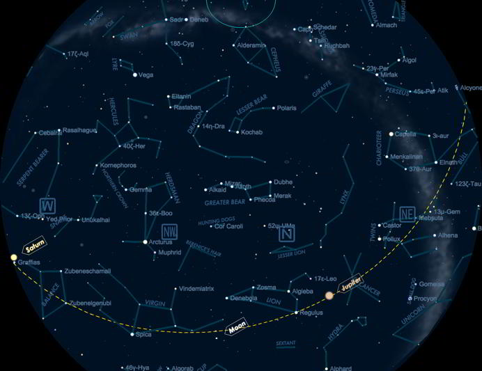 Interactive Star Map Northern Hemisphere.Starmap The Astronomy App